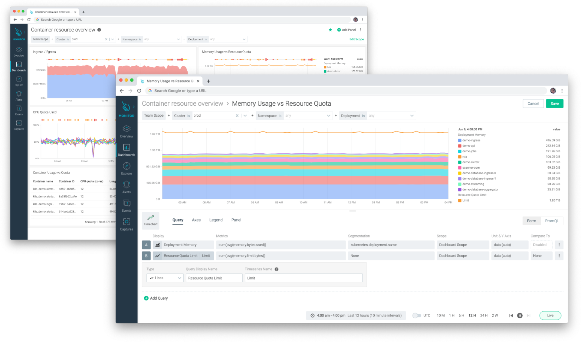 An example of how you can create a Dashboard in Sysdig without PromQL Knowledge, by using Sysdig Monitor's form-based dashboards
