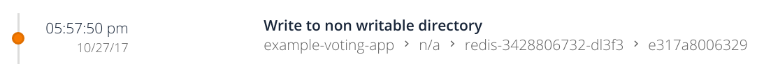 Secure write to non writtable