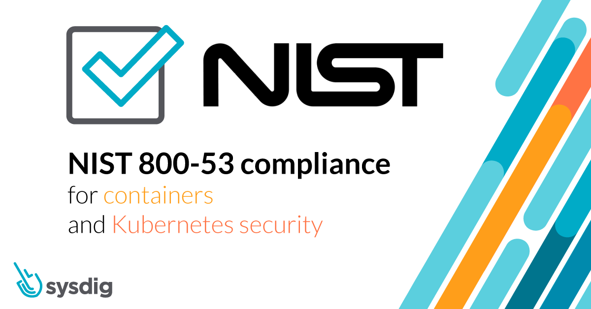 NIST 800-53 compliance for containers and Kubernetes
