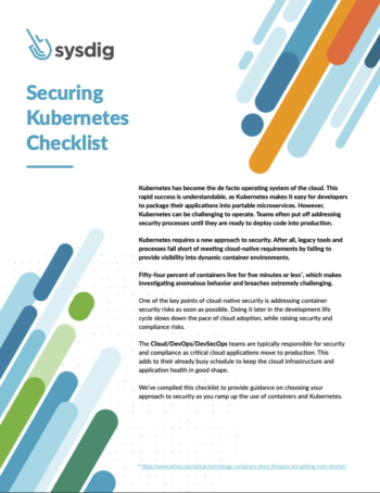 securing kubernetes checklist cover